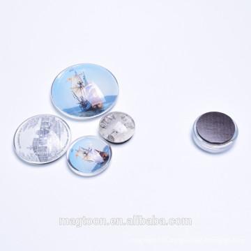 Aimants en verre à dôme en cristal pour promotion