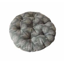 Bequemes rundes Stuhlkissen Praktische Stuhlpolster Grau