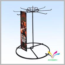 Porte-baguette rotative à comptoir en métal professionnel pour affichage