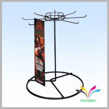 Professional Metal Wire belt rotating countertop rack for display