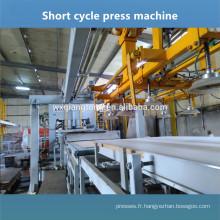 Plaque de gaufrage MDF machine de laminage à chaud