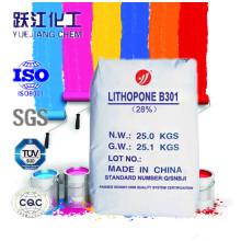 Белый пигмент литопон B301 для покрытия (Zns 28% Min)