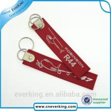 Fördernde dauerhafte gesponnene Stickerei Keychain für Förderung