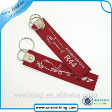 Promotional Durable Woven Embroidery Keychain for Promotion