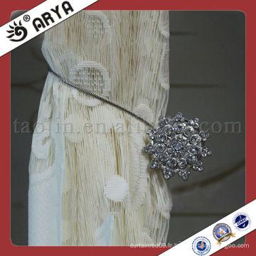 Clip de décoration magnétique en cristal pour rideau