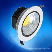 Заводская цена Cob Led Downlight 5W Dimmable / Ultra-Slim светодиодный светильник / потолочный светильник