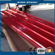 Folha de aço galvanizado ondulada de alta qualidade da telhadura da China