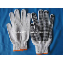 "10.5"" Cotton Knitted Glove Dotted PVC on Side (HL-G47)"