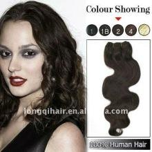 fashion Chinese kinky curl Remy hair weaving(100% human hair)