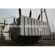 Triphasé huile immergé type cuivre plaie base faible perte 132kV 90mva transformateur à enroulements