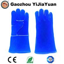 Luvas de soldagem de trabalho de proteção de couro com Ce En407