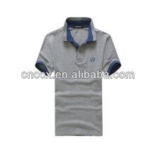 Camisa polo de jersey único 100% algodão dos homens 13PT1040