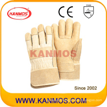 """Yellow 11"""" Pig Grain Leather Work Industrial Safety Gloves (22005)"""
