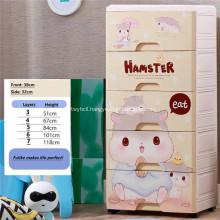 Children's Simple Wardrobe Toy Clothes Storage Cabinet