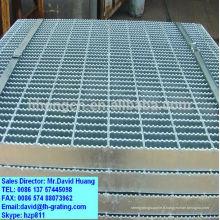 Grille de cheminée galvanisée, plate-forme de grille en acier galvanisé, grille d'industrie de plancher galvanisé