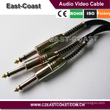 High performance 6.35mm stereo to 2X 6.35mono Audio Cable