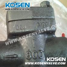Forjado en las válvulas de retención de pistón de acero (H11)