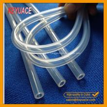 Tube en caoutchouc transparent de silicone de catégorie médicale