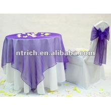 Nappe, la couverture de 100 % polyester table, nappe de banquet/parti