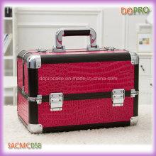 Fuschia Crocodile Beauty Cosmetic Makeup Suitcases (SACMC058)