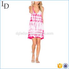 Robe de vacances conception robe de fille de fleur en gros tunique occasionnelle de plage