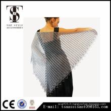 Crochet motifs châles ouvrir la dentelle écharpe en acrylique nouvel style