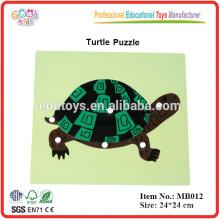 Montessori materiales, montessori Tortuga Puzzle juguetes