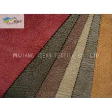 75DX160D tecido de Micro camurça de poliéster trama para têxteis-lar