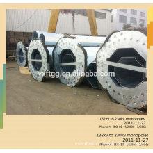 Q235B, Q345B / A572 Acero galvanizado Comunicación alto poste de mastín luz fatory precio directo