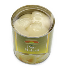 Canned pear halves/dice/slice in light syrup or in heavy syrup in tins package or glass jar package fresh taste