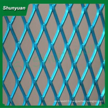 manufacture Best seller diamond aluminum expanded metal mesh 50x100mm for decoration/curtain wall/ house-ceiling