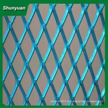 Fabricação Best seller diamante alumínio expandido malha metálica 50x100mm para decoração / cortina de parede / casa-teto