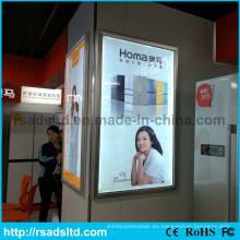 Caja de luz delgada del marco del cartel LED colgante de pared
