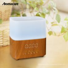 Alibaba China Compras en línea Olor Difusor Máquina Aromaterapia Madera Bluetooth Temporizador Reloj Humidificador de Aire Muestra Gratuita