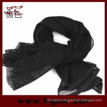 Multifunctional Tactical Scarf Scrim Scarf Airsoft Scarf Headwear Scarf Black