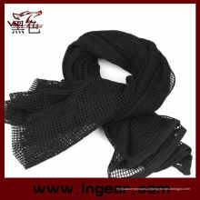 Lenço tático multifuncional Scrim cachecol cachecol de Airsoft Headwear cachecol preto