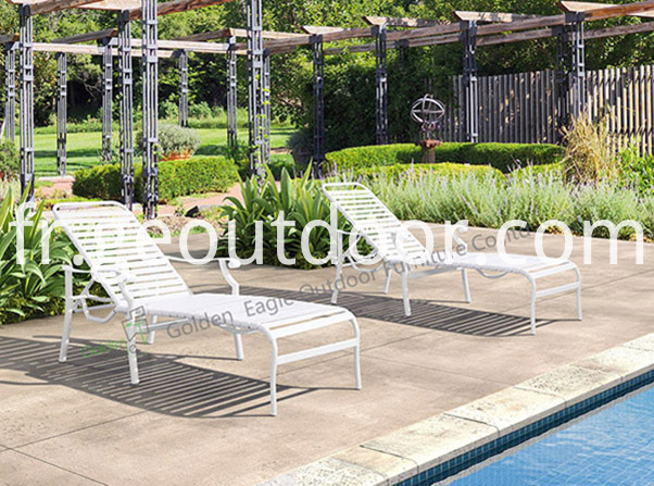 outdoor patio aluminium chaise