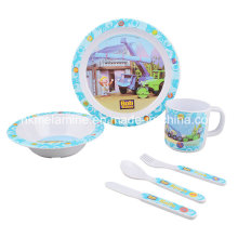 Kids Melamine Dinnerware Set com 6pcs (TZ2937)