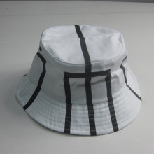 2017 Hot Sale White Print Bucket Hat