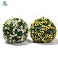 Different color artificial hanging flower ball for garden decor