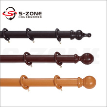 Natural Wood Curtain Rod Wooden Curtain Poles Curtain Rings and Accessories