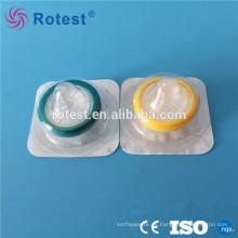 Filtro de jeringa de PVDF / PTFE estéril de laboratorio