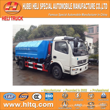 4X2 DONGFENG pull arm self-discharging garbage truck 5m3 95hp excellent quality and reasonable price