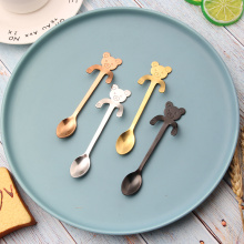 Gold-plated stainless steel coffee spoon bear spoon