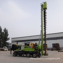 4.  360 Degree Wheeled Type Hydraulic Rotary Drilling Rig  Wheeled Pile Driver, Wheeled Rotary Pile Drilling Machine, 360 Degree
