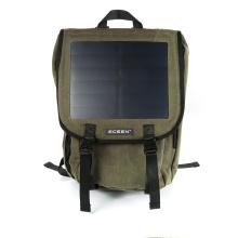 Material de lona com 20-30L de capacidade novo design Solar Backpack