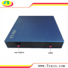 USB2.0 SATA External 2.5 Aluminum HDD Recinto