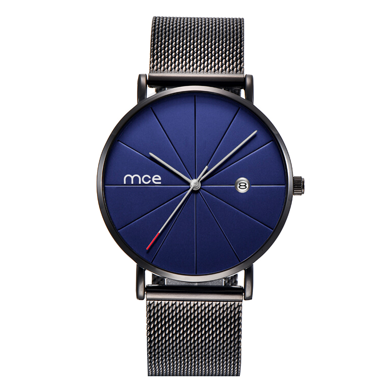 Custom Minimalist Alloy Case Quartz Watches for Men