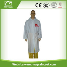 Adult PVC Raincoat with Printing Logo