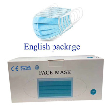 Nonwoven elastic earloop face mask